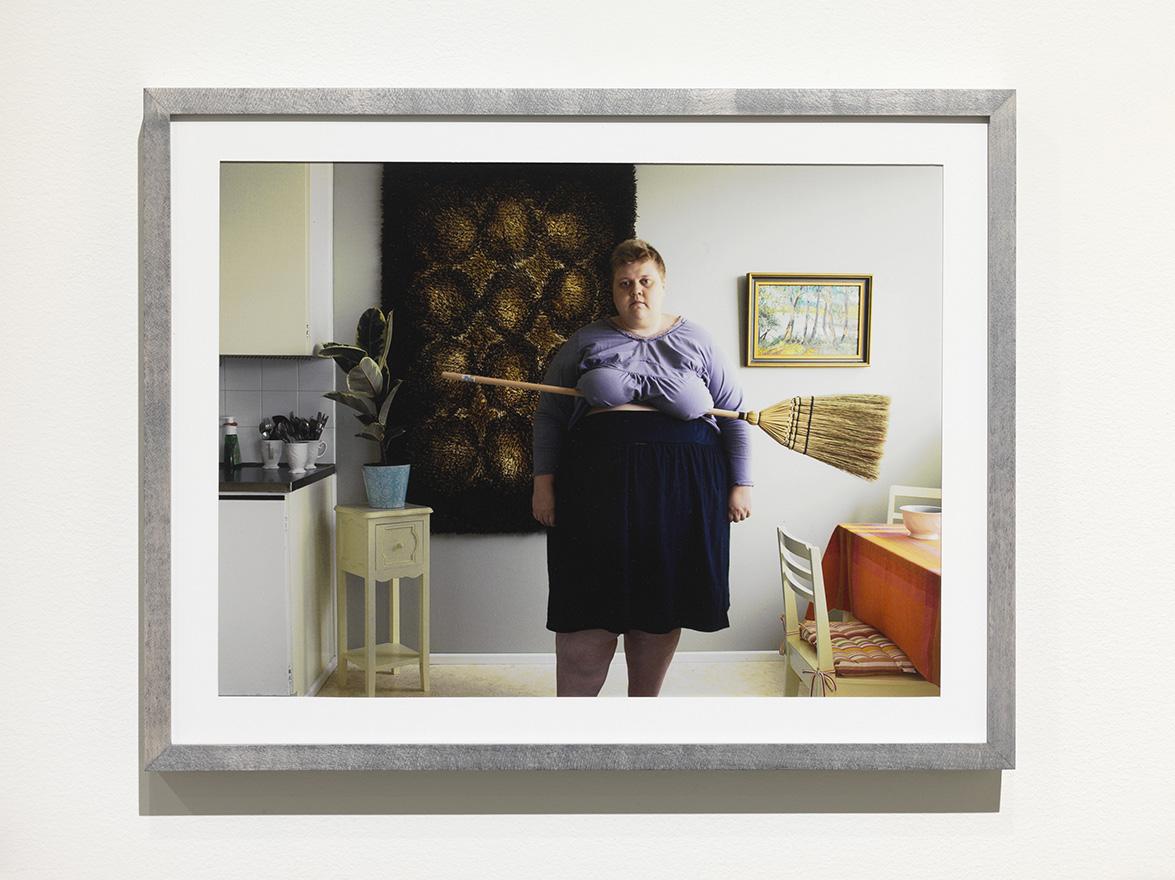 Iiu Susiraja, Luuta, 2010. Chromogenic print, 12,5 x 16 inches framed. Installation view at Ramiken Crucible.