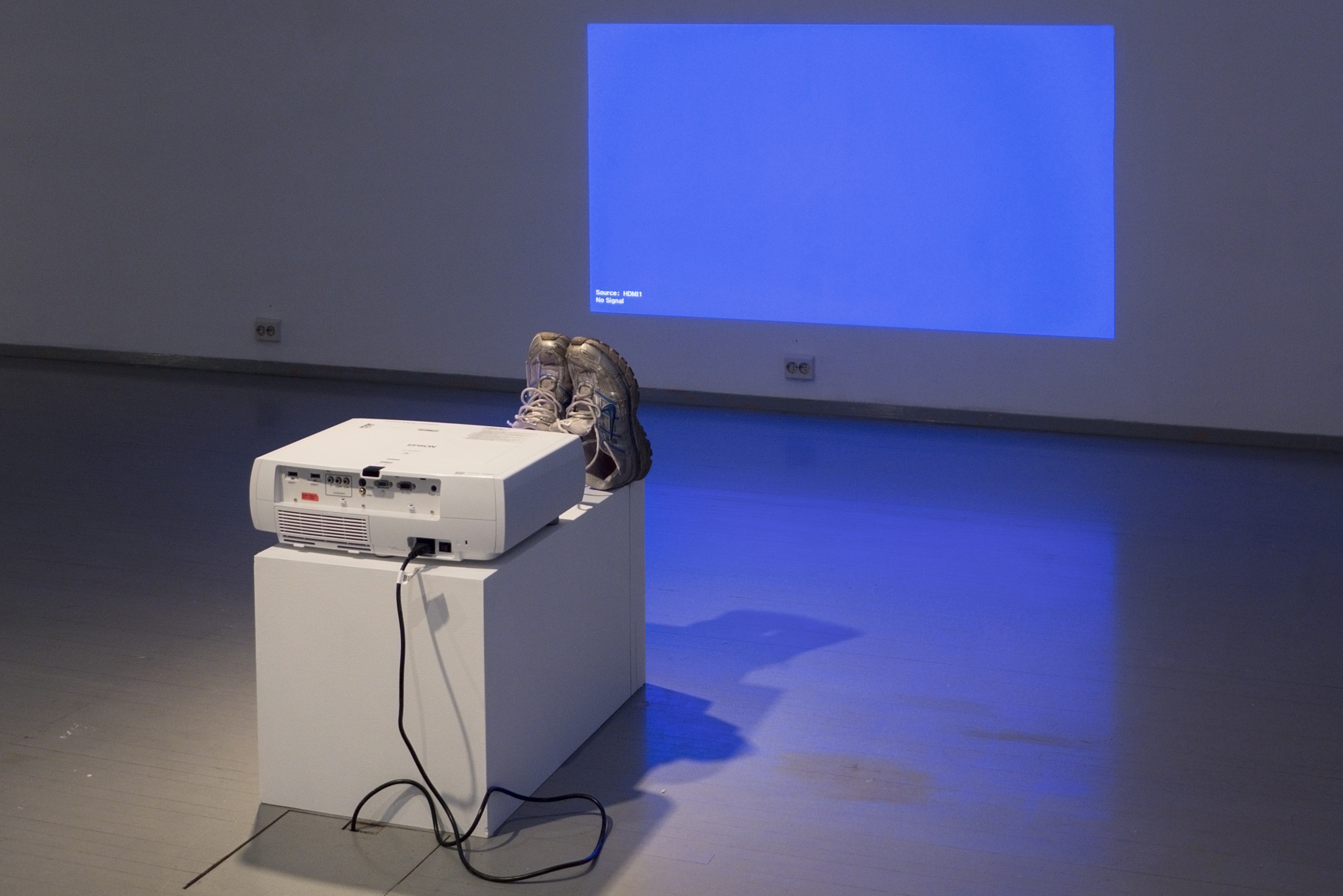 Nestori Syrjälä, 'Shoe Dryer', 2013. Sculpture: Epson EH-TW3200 projector, Nike running shoes, mud