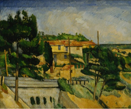 Paul Cézanne, *The Road Bridge at L'Estaque; The Viaduct near L'Estaque,* 1879-1882. Collection of the Finnish National Gallery. Photograph © Finnish National Gallery / Matti Janas.
