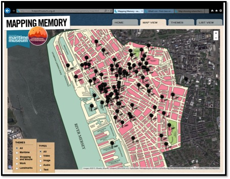 Image 7. Mapping memory-project by the Merseyside Maritime Museum. A screenshot from their website.
